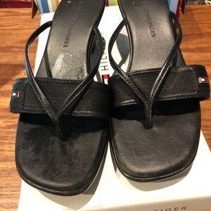 Tommy Hilfiger black Martina sandals